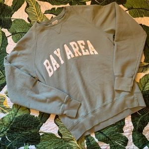 RARE Brandy Melville Bay Area sweatshirt in green